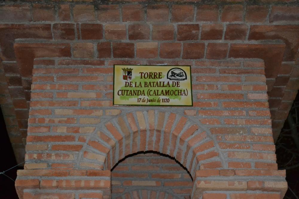 Placa conmemorativa de la batalla de Cutanda 2