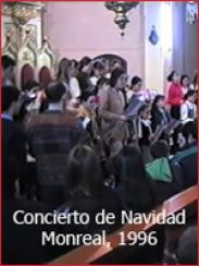 Concierto de villancicos: coral y banda (Monreal del Campo, 1996)