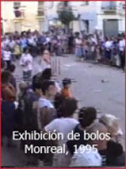 Exhibición de bolos en Monreal del Campo (aprox. 1995)