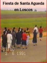 Fiesta de Santa Agueda en Loscos (junio 1991)