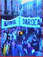 Manifestación demandando la Autovía por Daroca (1995 aprox.)