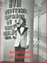 Angel Galán en el festival de Benidorm (1975)